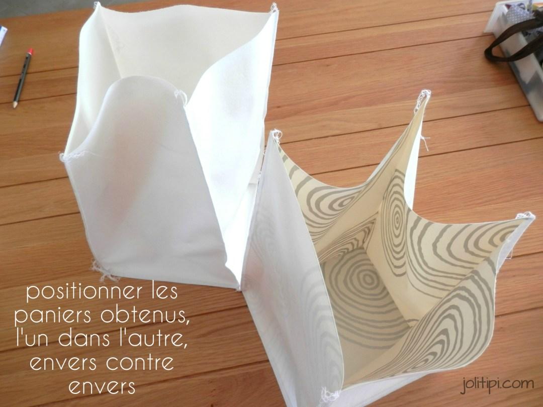 paniers de rangement en tissu