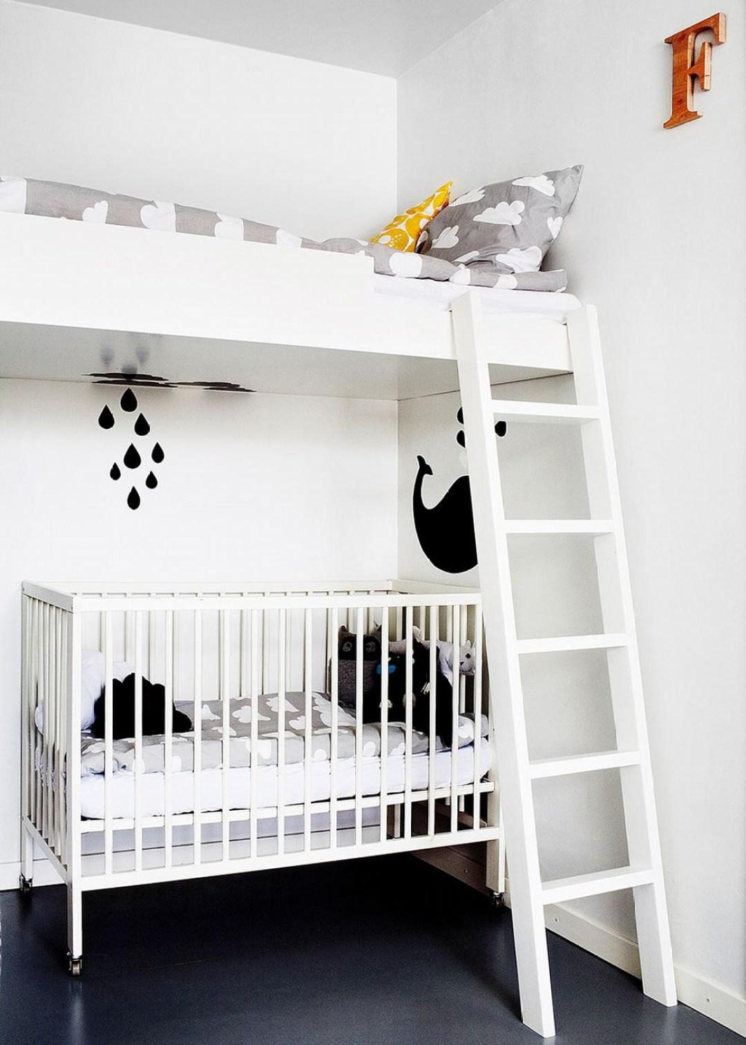 chambre-double-enfant-et-bébé-noir-et-blanc