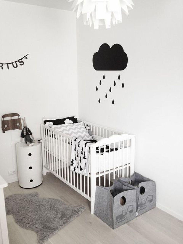 Chambre Garcon Blanc : Noir et blanc s invitent dans la chambre d enfant joli tipi