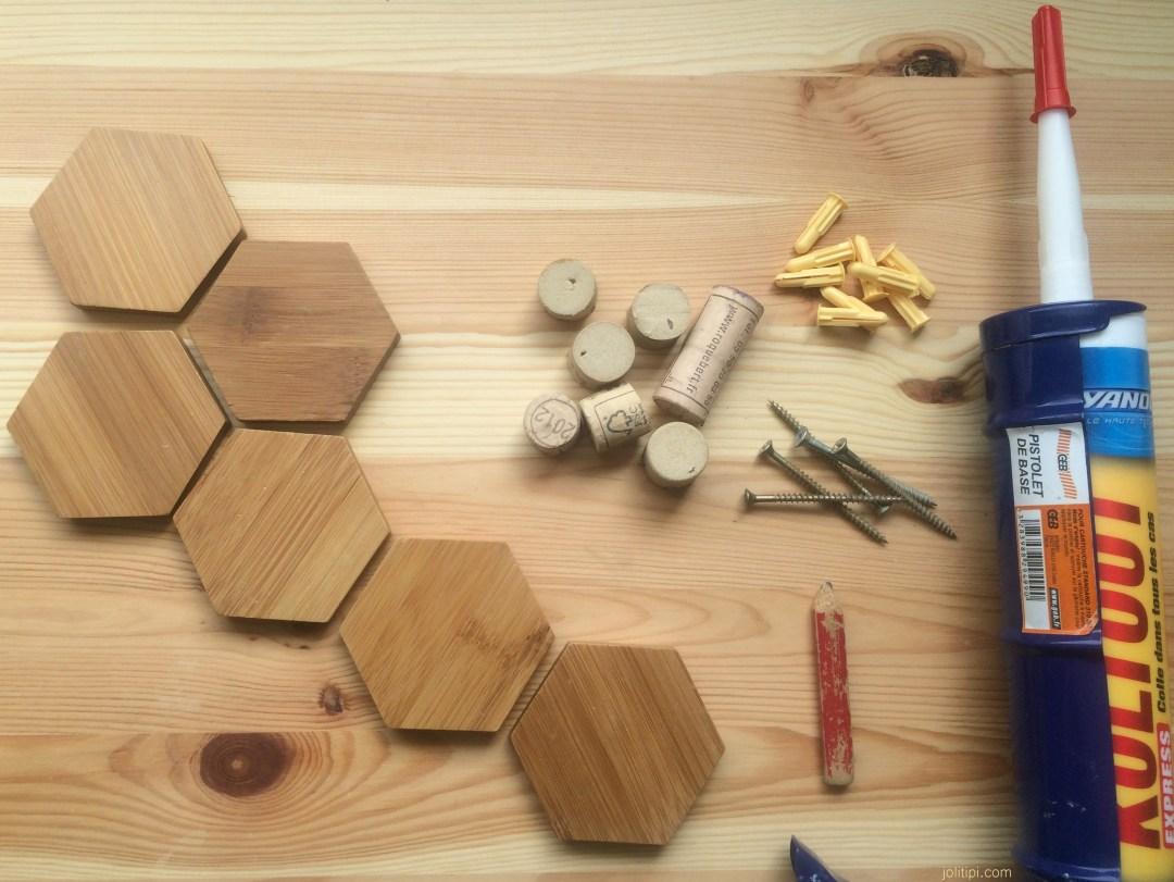 DIY patère en bois JoliTipi - Matériel
