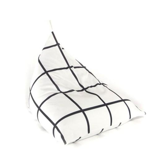 Pouf berlingot noir et blanc Gautier studio