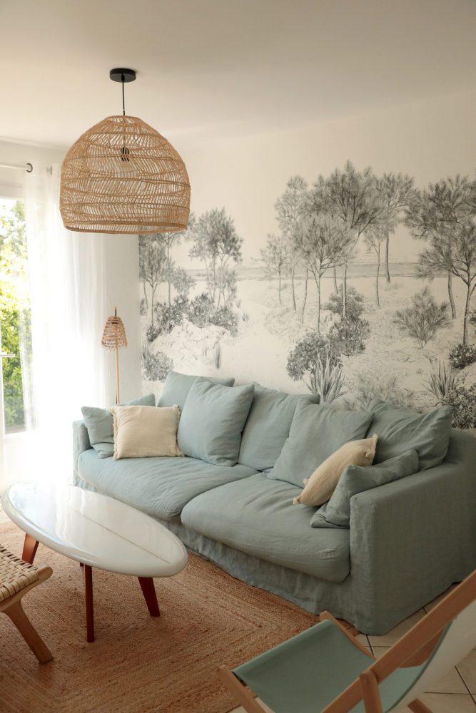 Salon décoration nature bohème campagne chic