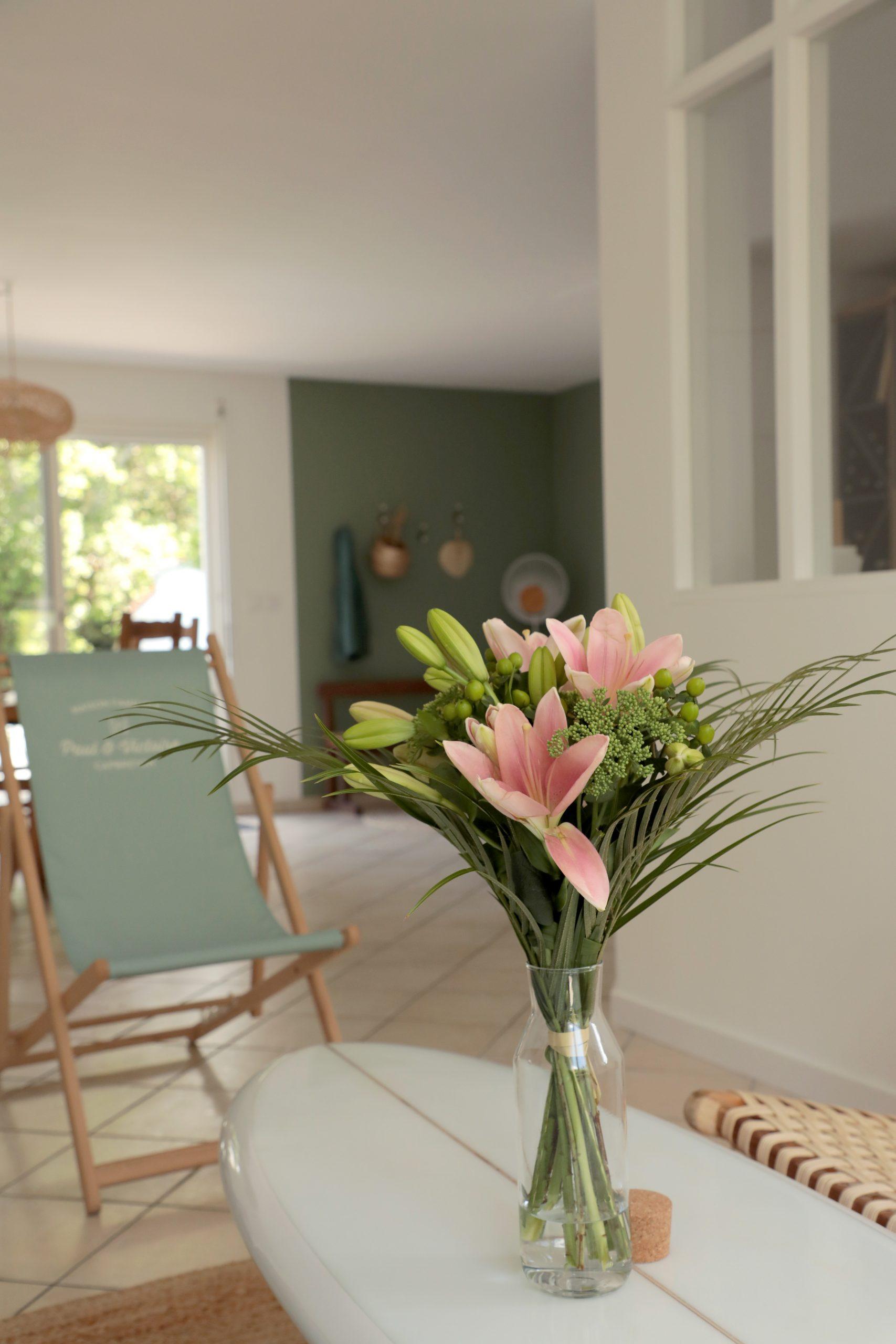 Salon décoration nature bohème maison de campagne