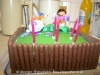 Birthday Cake using chocolate fingers