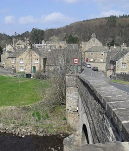 The historic village of Blanchland in Northumberland