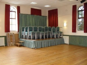Inside Great Broughton Village Hall