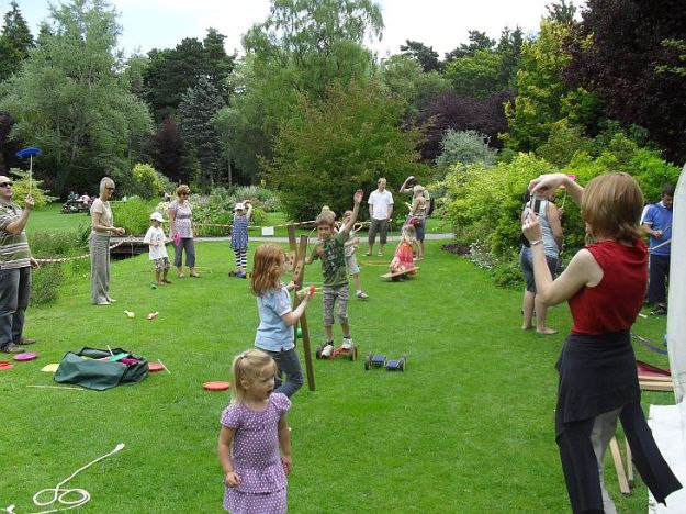 Circus Skills at Thorp Perrow Arboretum, North Yorkshire