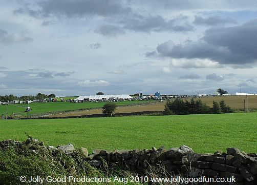 Wensleydale Show 2010, view from Bellerby side