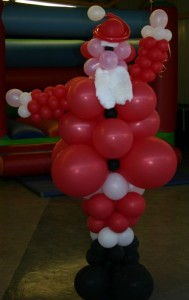 Santa Claus made from balloons by Ron Wood