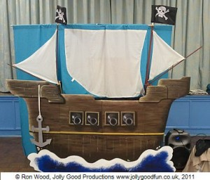 The Pirate Ship from our puppet show