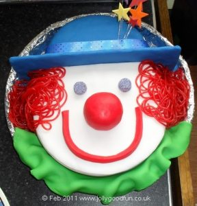 Charlie's Clown Birthday Cake