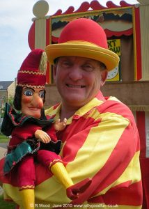 Mr Punch in the hands of Professor Ron Wood