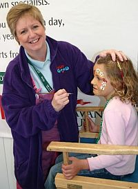 Hazel Wood Face Painting At An Event