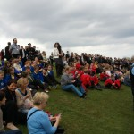 School children at he opening of the new play park in Seaham