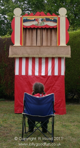 Girl waiting for Punch and Judy