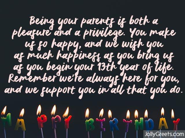 13th Birthday Wishes For Daughter