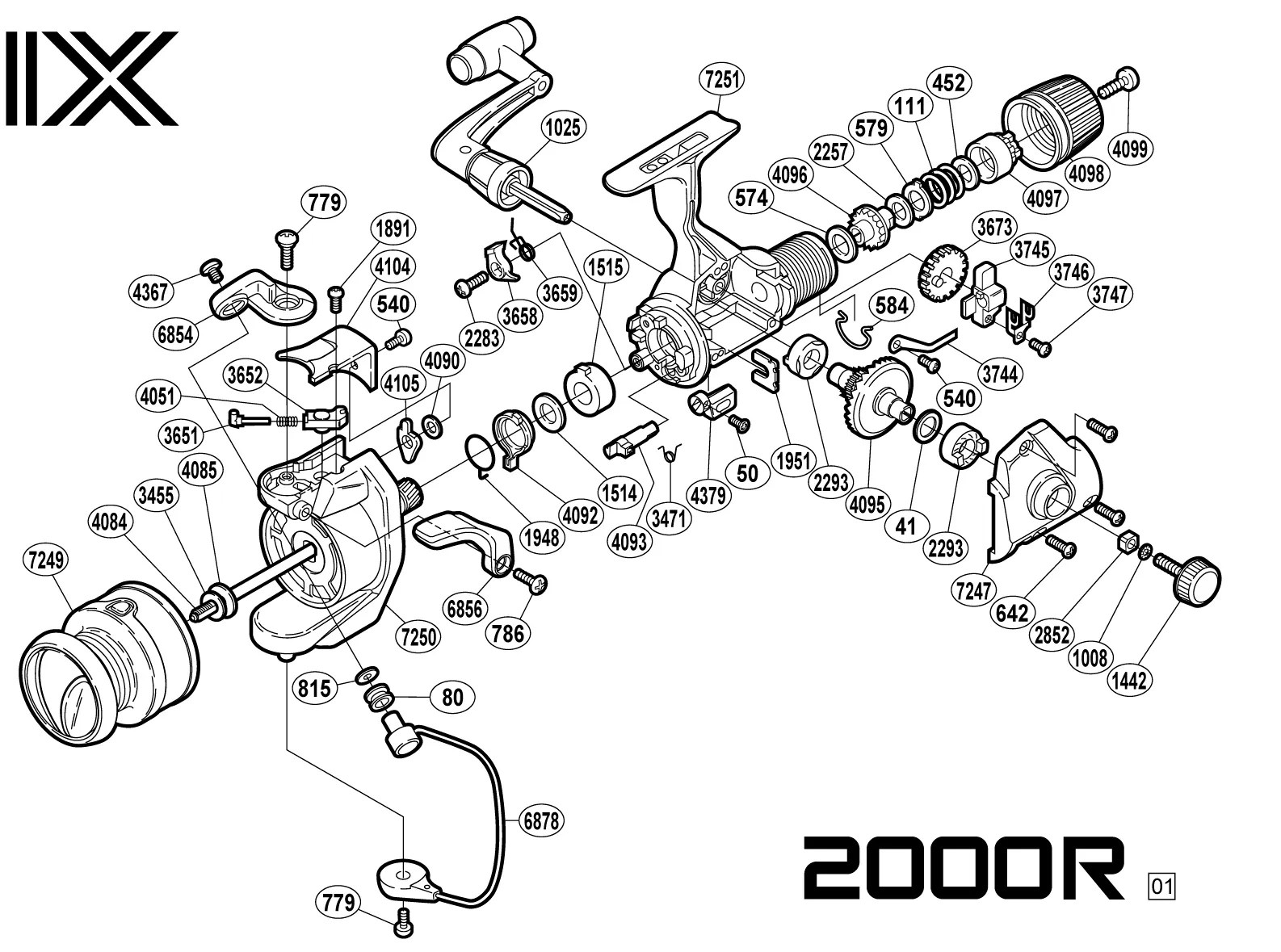 Zebco 33 Parts Schematic
