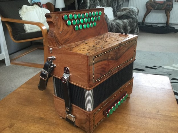 Pariselle melodeon in DG with 14 bass (sold)