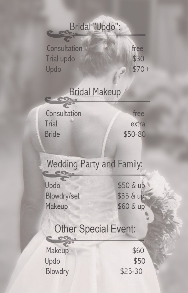 how much does hair and makeup cost for a bridesmaid