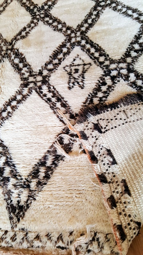 détail tapis vintage Beni Ouarain