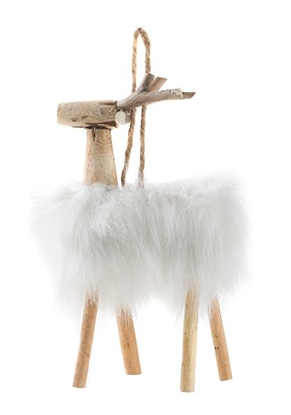 renne en laine et bois