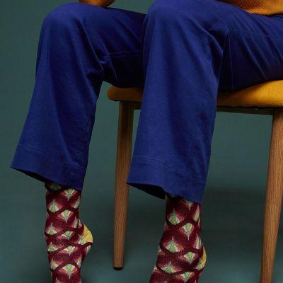 chaussettes en bambou rouge cerise