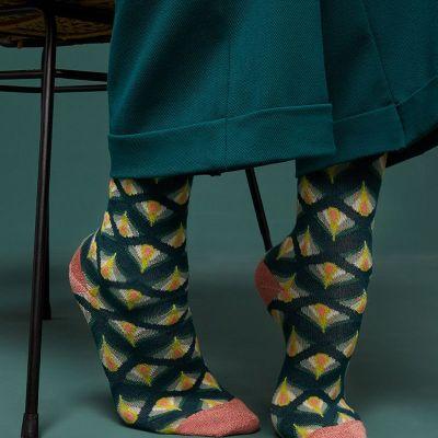 chaussettes en bambou vertes