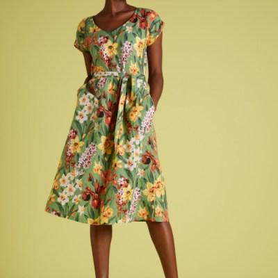 robe évasée imprimé floral