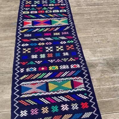 tapis kilim en velours violet