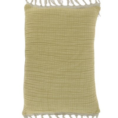 coussin coton tabac