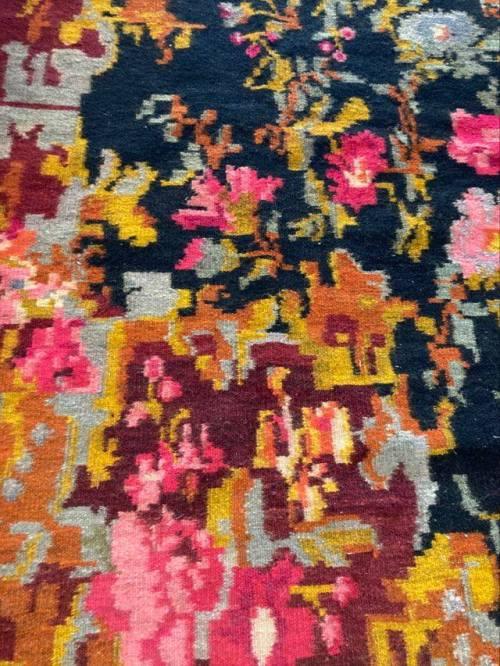 tapis moldave bessarabian motifs floraux