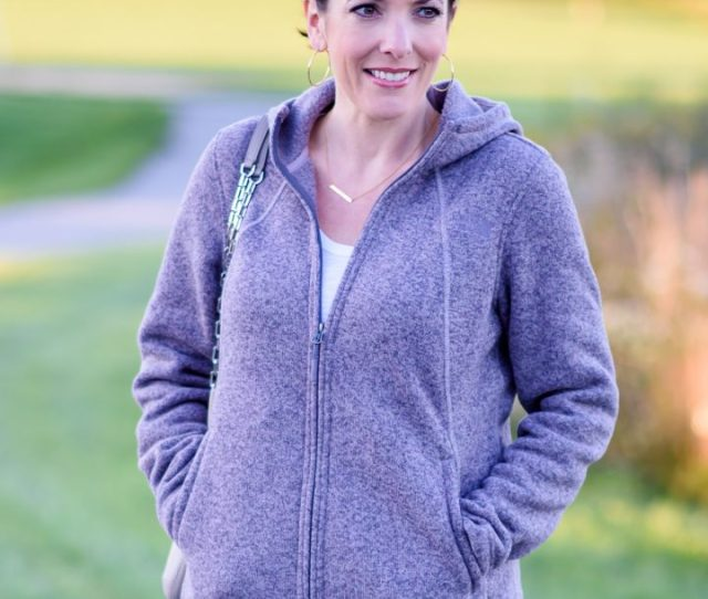 Fall Soccer Mom Outfit Cozy Fleece North Face Hoodie With Wit Wisdom Skinny Jeans