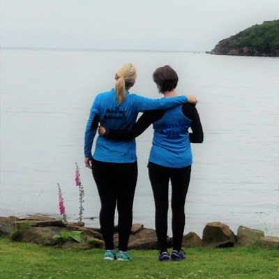 Lynne and jo pictured at Applecross during training
