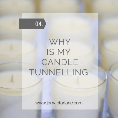 Why is my luxury candle tunnelling