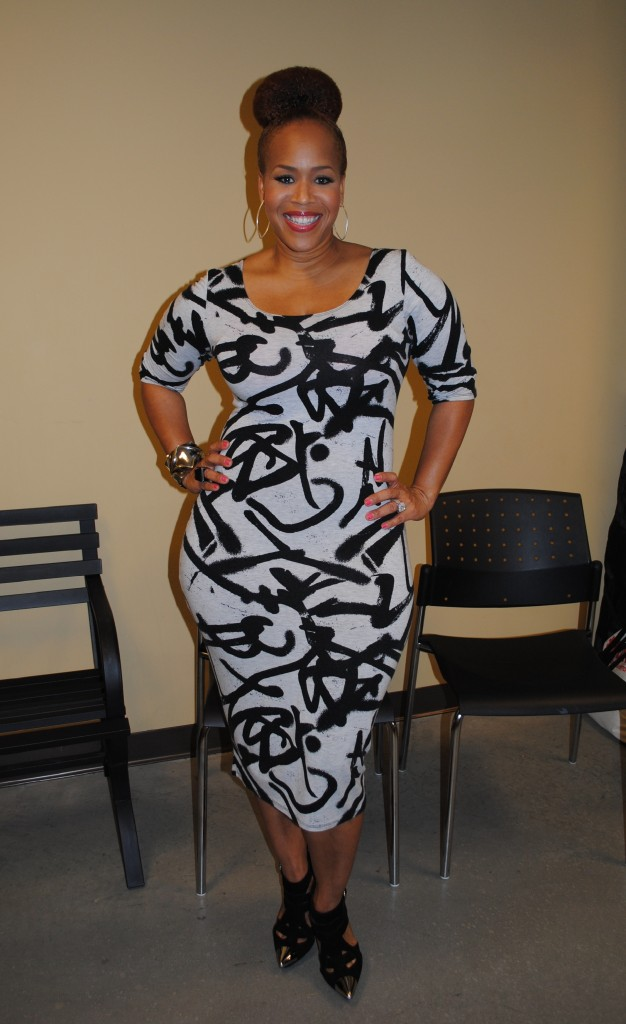 Tina Campbell backstage a the I Hear Music In the Air Conference