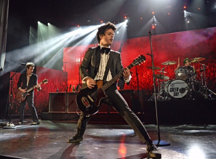 CLEVELAND, OH - APRIL 18:  Billie Joe Armstrong performs onstage during the 30th Annual Rock And Roll Hall Of Fame Induction Ceremony at Public Hall on April 18, 2015 in Cleveland, Ohio.  (Photo by Kevin Mazur/WireImage for Rock and Roll Hall of Fame)