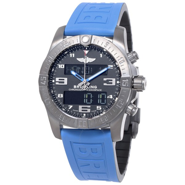 Breitling Exospace B55 Connected Blue Rubber Men' Watch