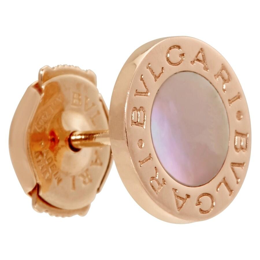 Bvlgari Mother Of Pearl Earrings Bulgari Small Rose Gold