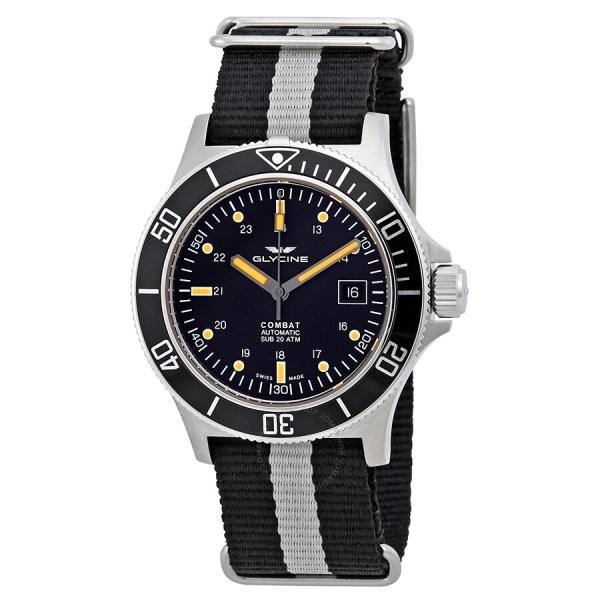 Glycine Combat Automatic Black Dial Men' Watch Gl0083