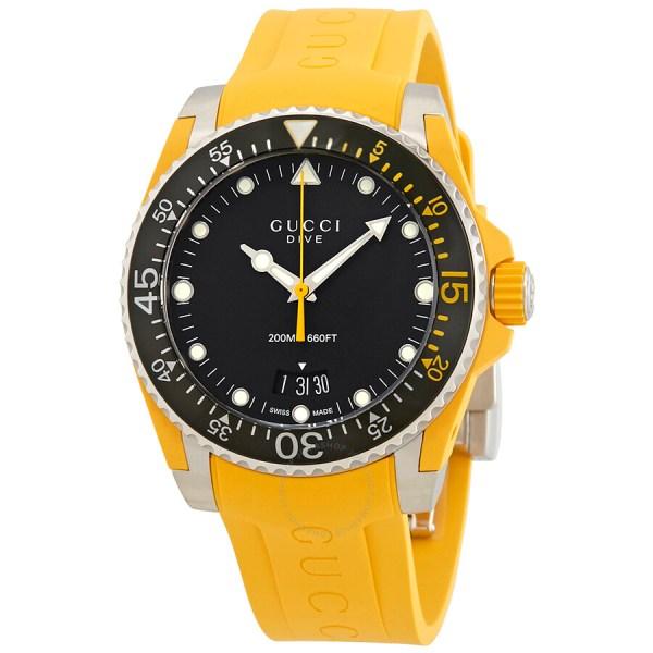 Rubber Band Gucci Watch Yellow