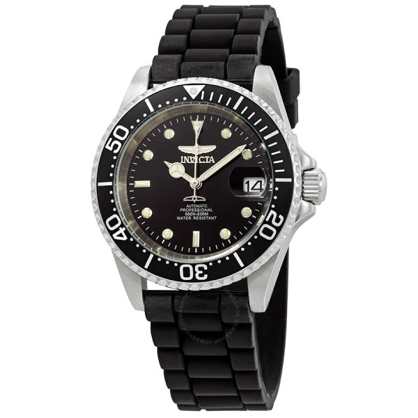 Invicta Pro Diver Automatic Diamond Black Dial Men' Watch