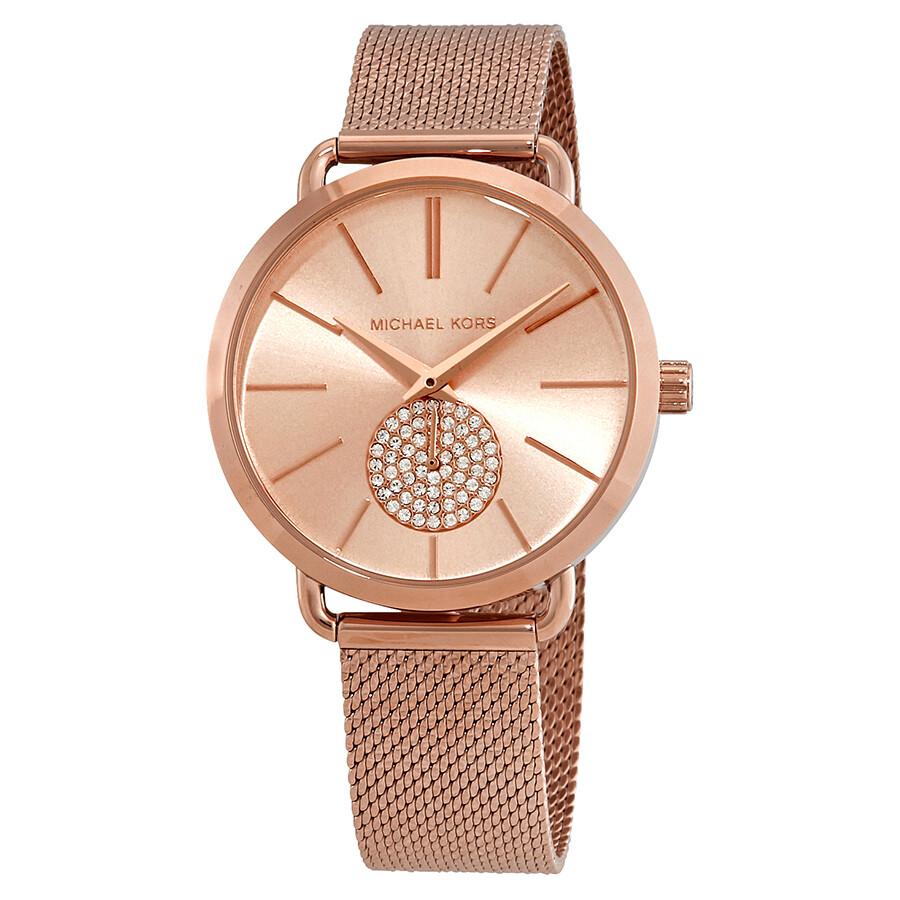 Michael Kors Porita Rose Dial Ladies Watch MK3845 - Michael Kors - Watches - Jomashop