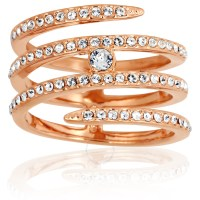 Swarovski Creativity Coiled Rose Gold-Plated Ring - Size 6 ...