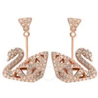 Swarovski Facet Swan Crystals Pave Earrings - Swarovski ...