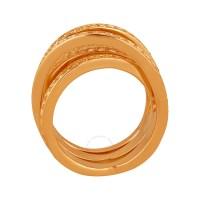 Swarovski Rose Gold-Plated Spiral Ring 5063923 - Swarovski ...