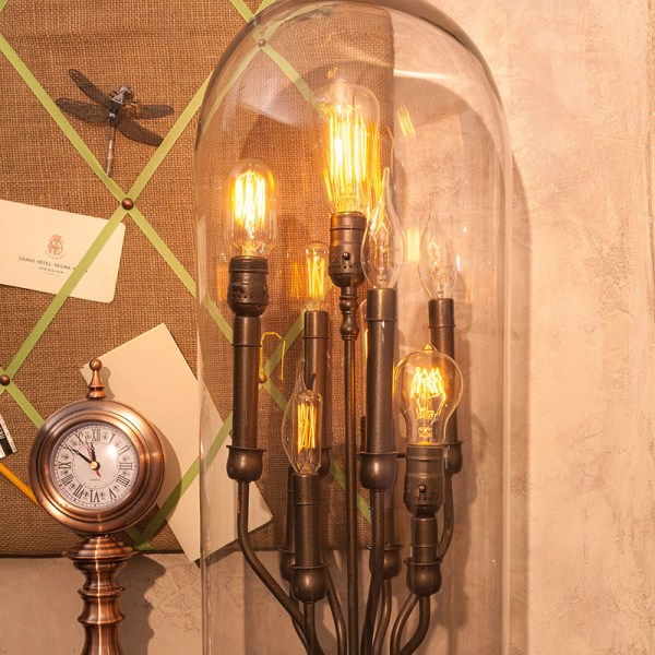 Large Steampunk Lighting Cloche - Jomoco Studio