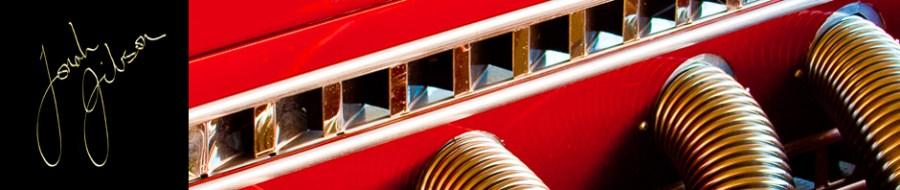 gold signature, red Auburn Boattail Speedster detail