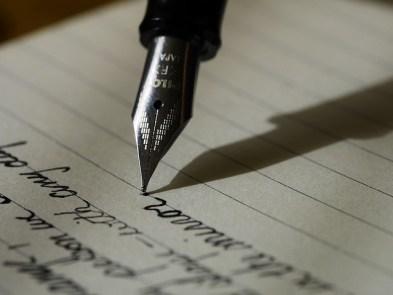 fountain pen, writing
