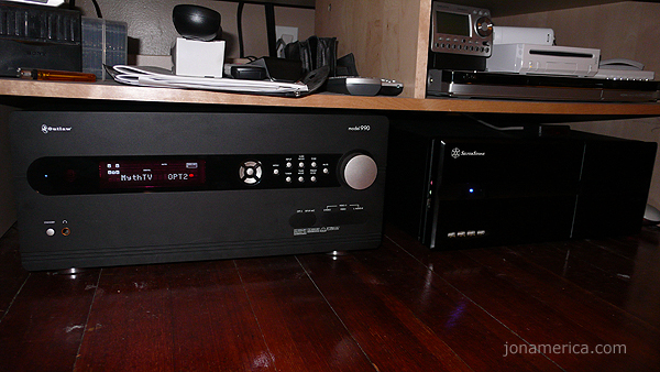 Here it is in place with my Outlaw Audio 990 Pre Amp