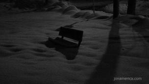 Bench in the dark